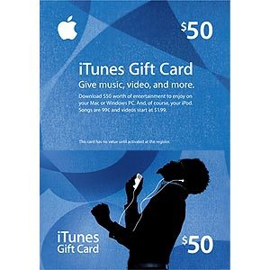 iTunes Gift Card - $ 50 (scan with a scratch MAPS) USA ACC.