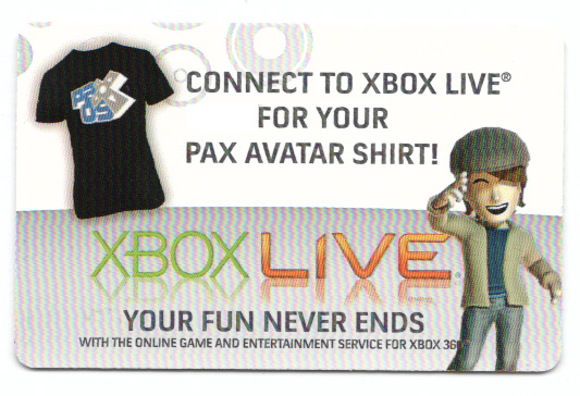 XBOX LIVE USA / EU - PAX Avatar (US only!) Male