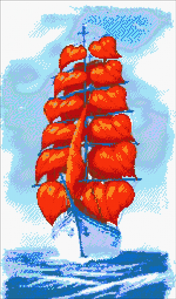 "The scheme for embroidery with beads ""Scarlet Sails"""