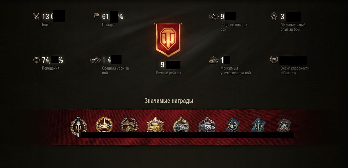 Selling a unique account in WoT. 100+ prems. 3100+ WN8