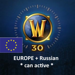 World of Warcraft 30 days Time Card + Classic EU/RU 🟢
