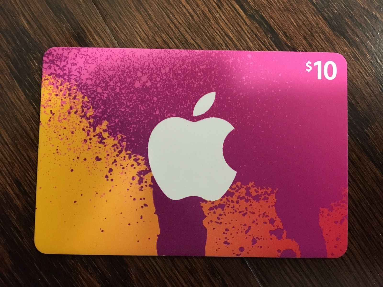 Itunes Gift Card 10 Usa Photo Of The Back Side Sale