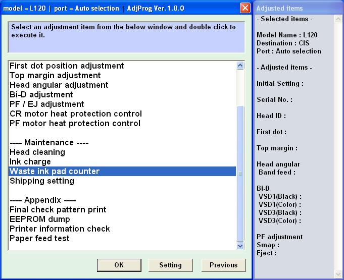 Buy Epson L120 Adjustment Program and download
