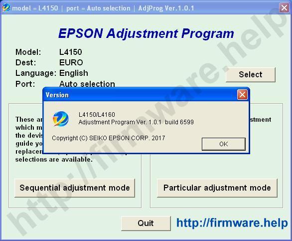 Epson L4150, L4160 Adjustment Program