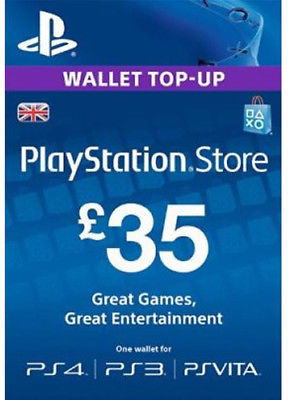 PlayStation Network £35 GBP (UK) Official key