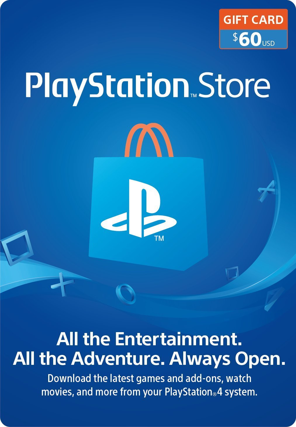 PlayStation Network (PSN) 60$ - USA [Official key]