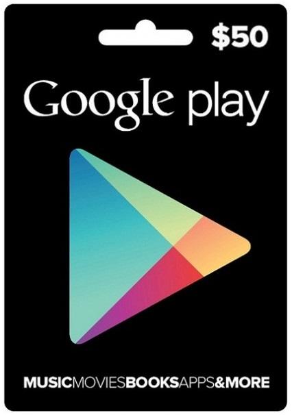 Google Play Gift $50 (US) 2019