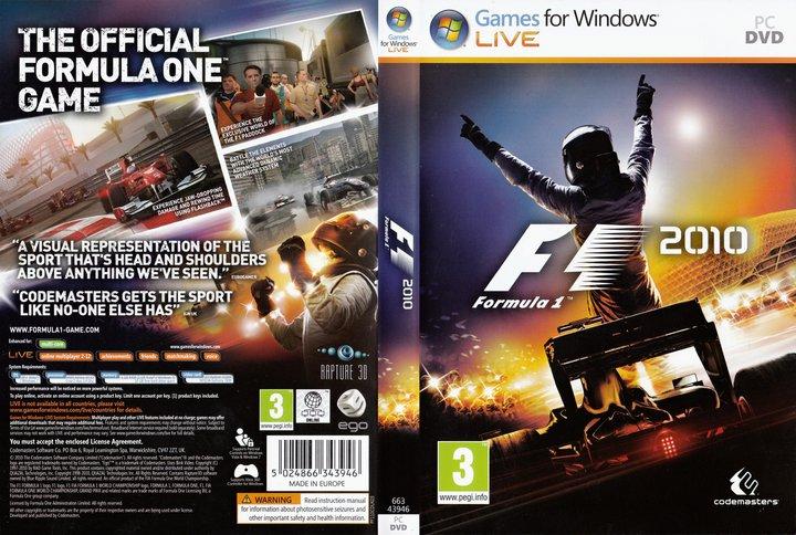 F1 2010 - АКТИВАЦИЯ GFWL - ФОТОСКАН КЛЮЧА