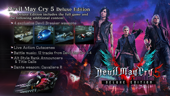 Devil May Cry 5 Deluxe + DLCs [AutoActivation] REG.FREE