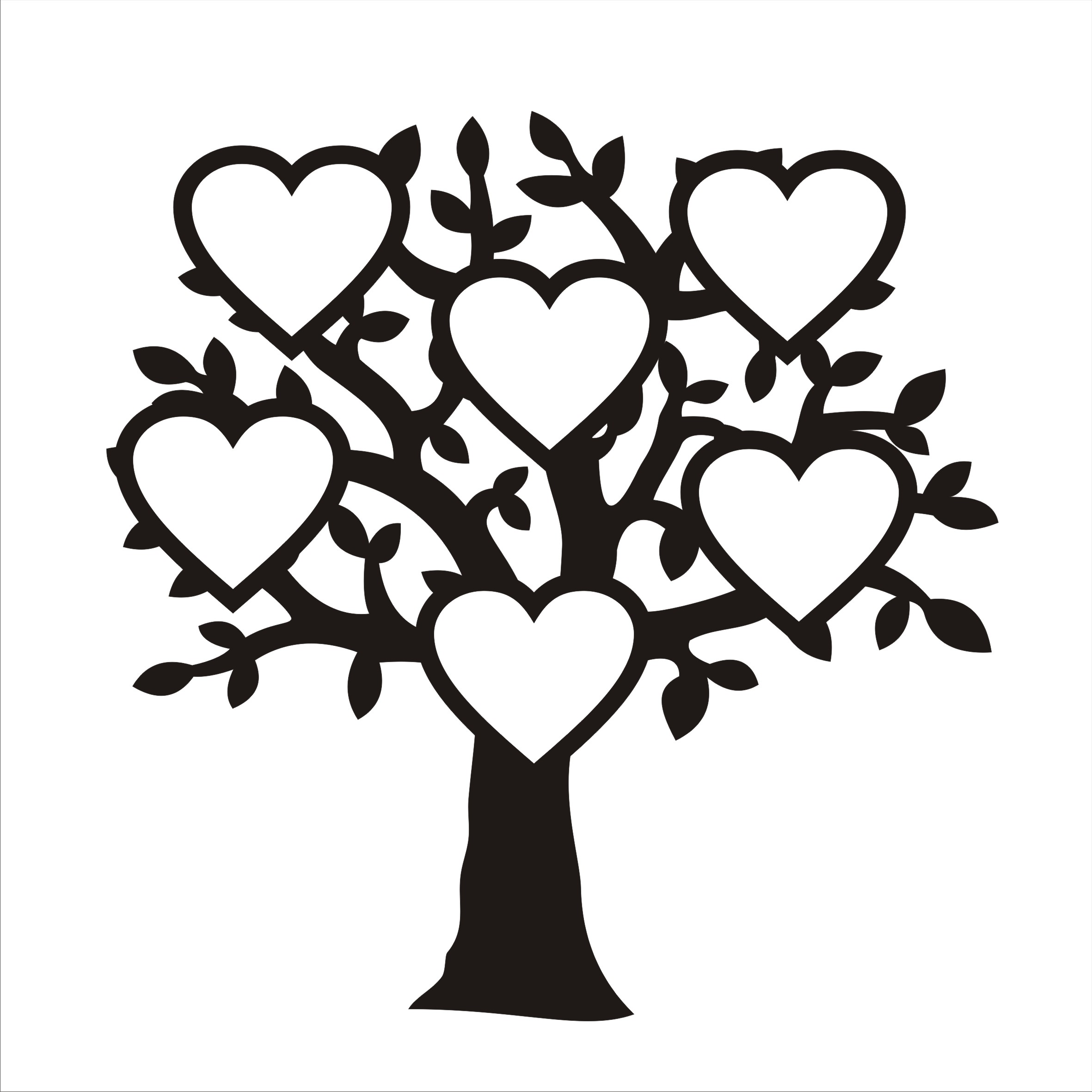 если картинка дерева с сердечками является