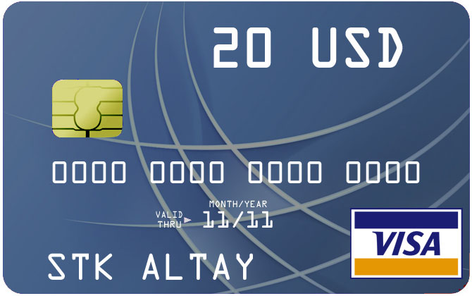 20$ Visa Virtual Card для оплаты в Интернет