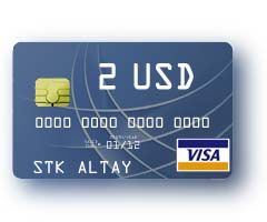 2 $ Visa Virtual Card to pay for Internet