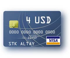 4 $ Visa Virtual Card to pay for Internet