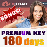 Ex-Load.com Premium Key 180 + Bonus 60 days