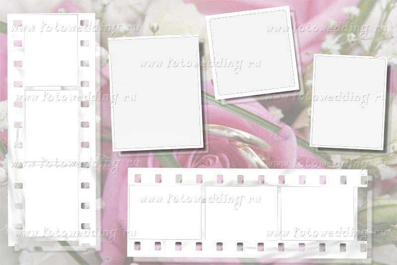 Frame wedding, pink and white photographic film