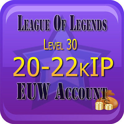 League of Legends Ур.30 Аккаунт EUW 20000+ IP Unranked