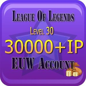 League of Legends LvL.30 Account EUW 30000+ IP Unranked