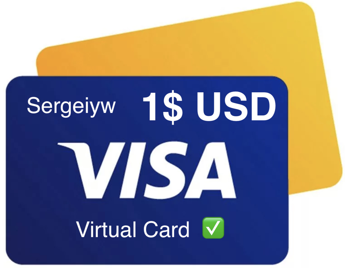 1$ USD VISA VIRTUAL without 3Ds, statement, RU Bank ✅