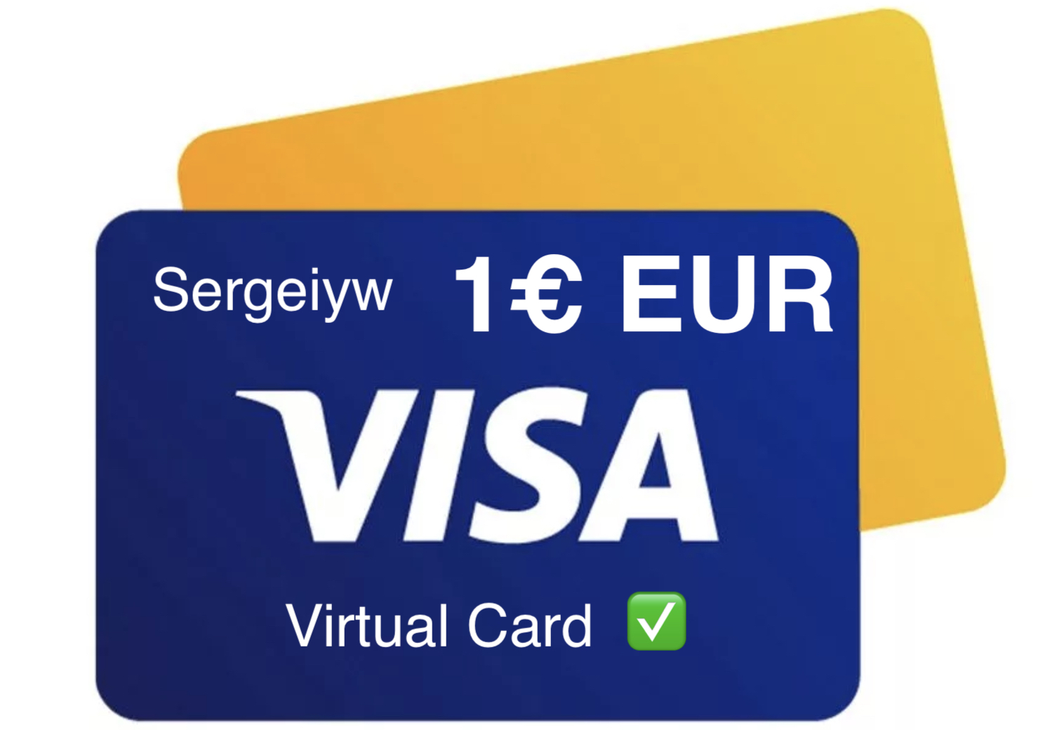 1€ EUR VISA VIRTUAL, statement, NO 3Ds ✅