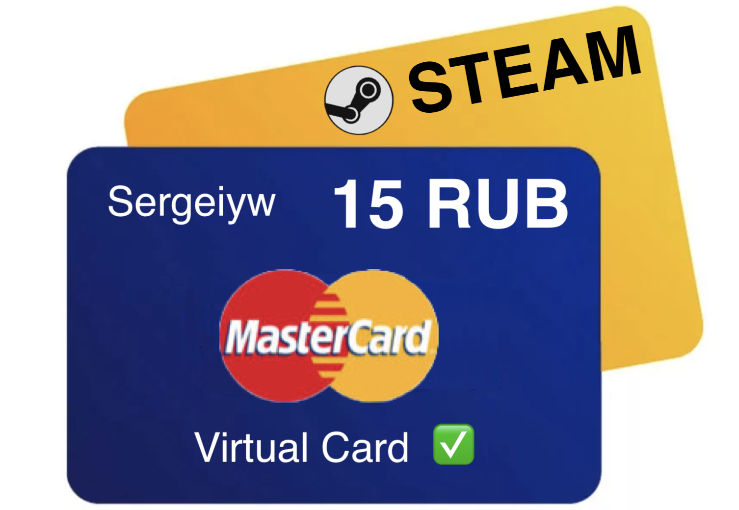 15 RUR MASTERCARD VIRTUAL only RU 🇷🇺Steam