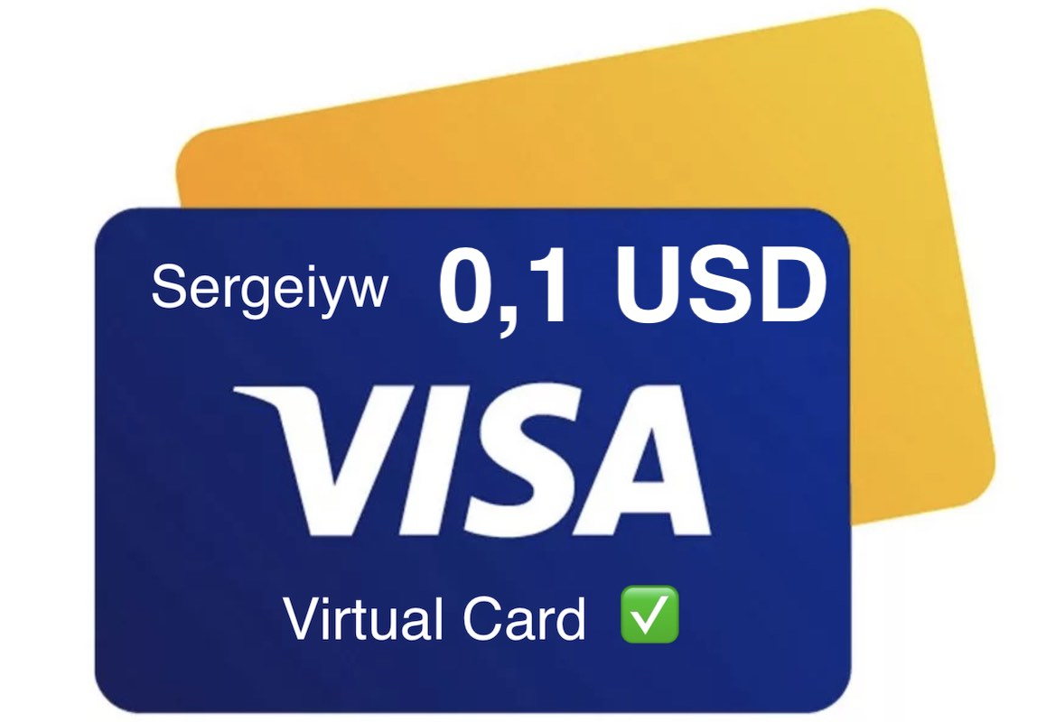 0,10$ USD VISA VIRTUAL without 3Ds, 09/20, RU Bank ✅