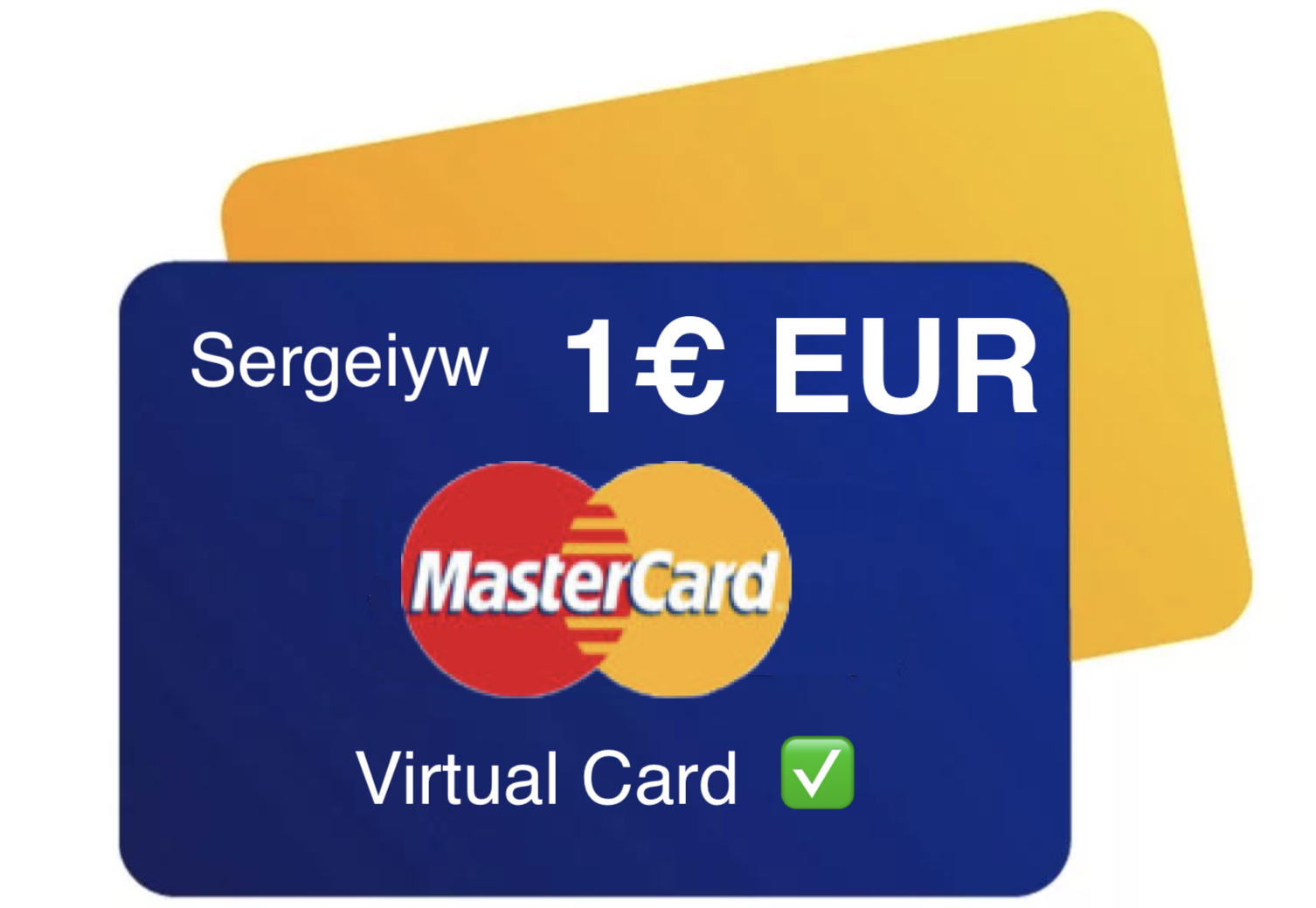 1€  EUR MASTERCARD VIRTUAL, Netflix all countries🌎✅
