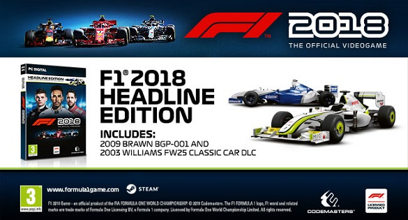 F1 2018 ✅HEADLINE EDITION→STEAM KEY + BONUS