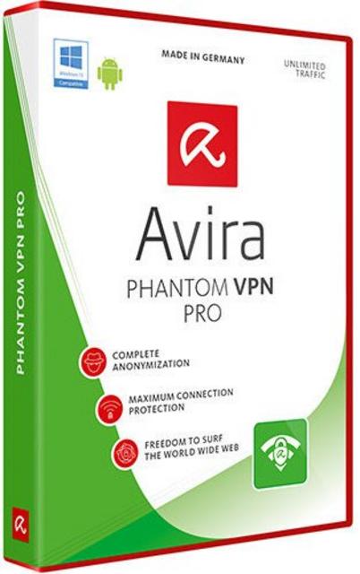 Avira Phantom VPN Pro 1PC / 3 months 2019
