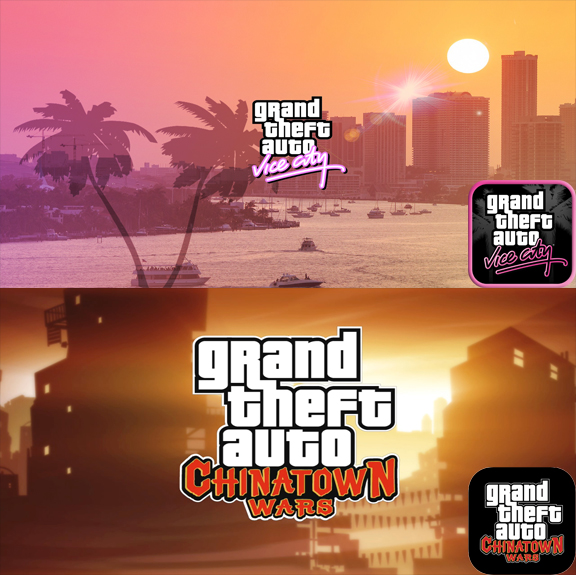 GTA Vice City + GTA China Wars AppStore iPhone iPad ios