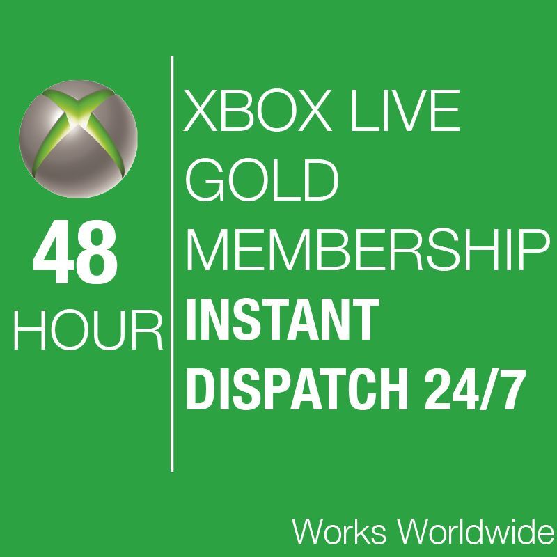 Xbox Live 48 hours 2 days GOLD Trial Code for Xbox 360
