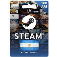 ⭐️STEAM WALLET GIFT CARD 100 ARS ✅|+ GlobaL~1.13 $