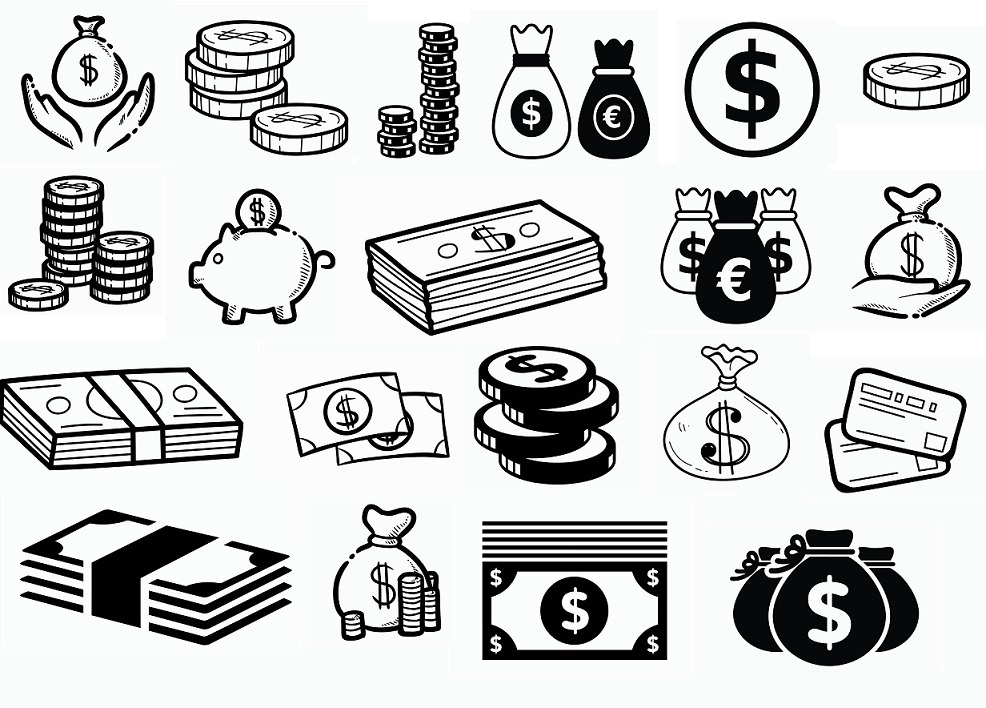 Money svg,cut files,silhouette clipart,vinyl files,vect