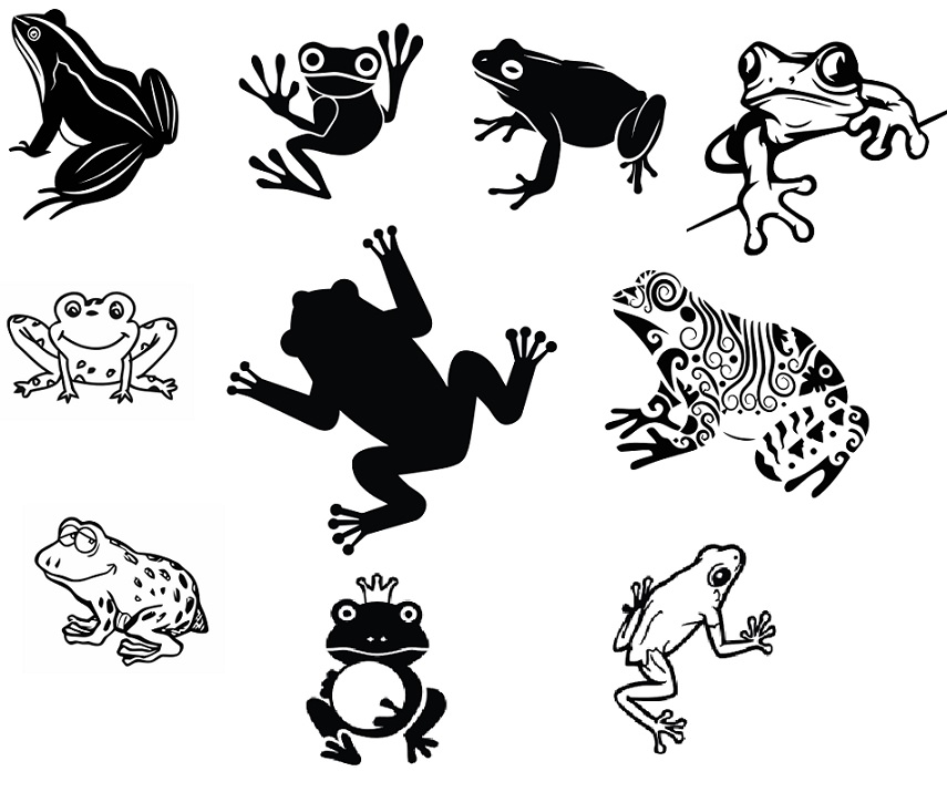 Frog svg,cut files,silhouette clipart,vinyl files,vecto