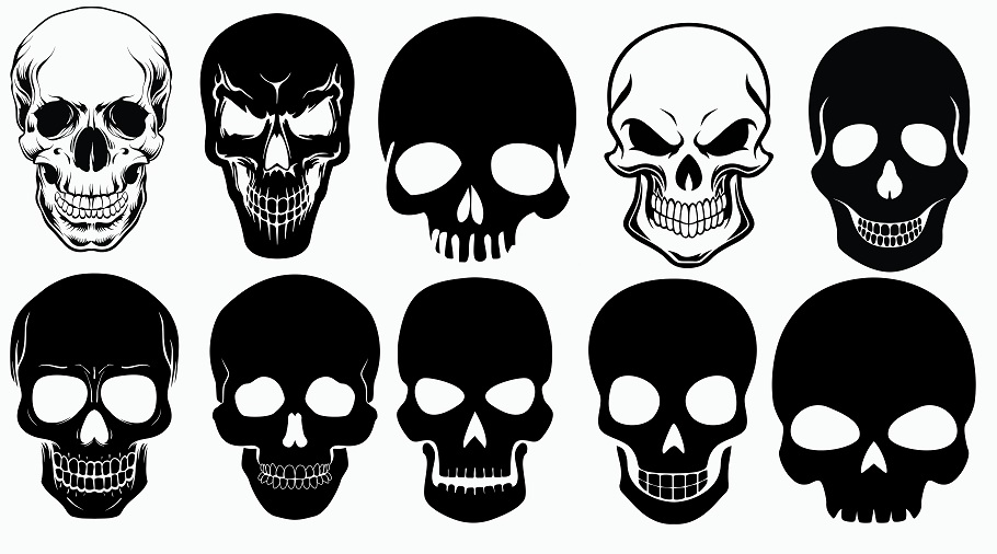 Skull svg,cut files,silhouette clipart,vinyl files,vect