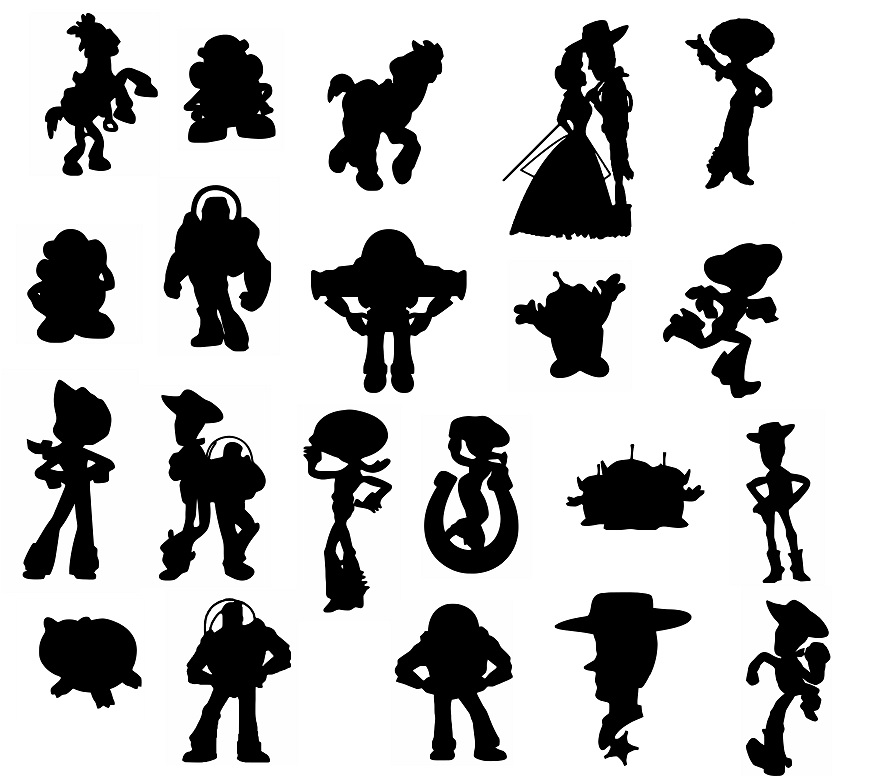 Toy Story svg,cut files,silhouette clipart,vinyl files,