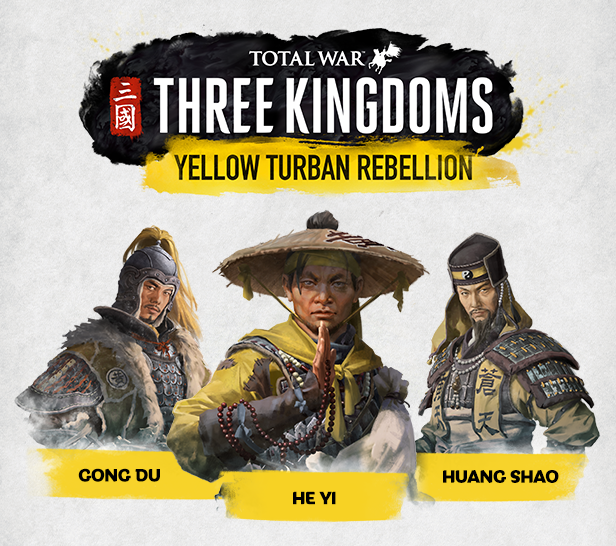 TOTAL WAR THREE KINGDOMS YELLOW TURBAN REBELLION + GIFT
