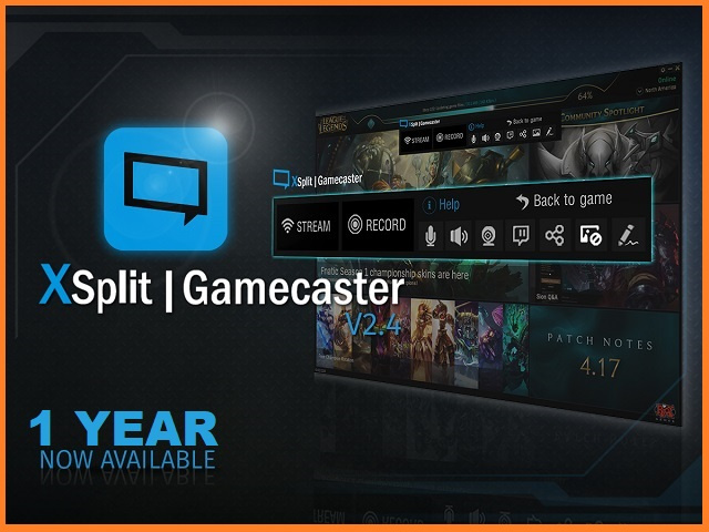 XSplit Gamecaster Key Premium 1 Year (GLOBAL) 2019