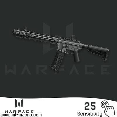 Macro on SAI GRY AR-15 for the game WarFace | 25  (ЛКМ)