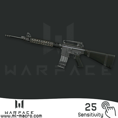 Macro on M16A3 for the game WarFace | 25 (ЛКМ)