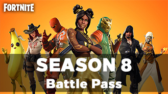 Fortnite Battle Pass Season 8 + Warranty 2019