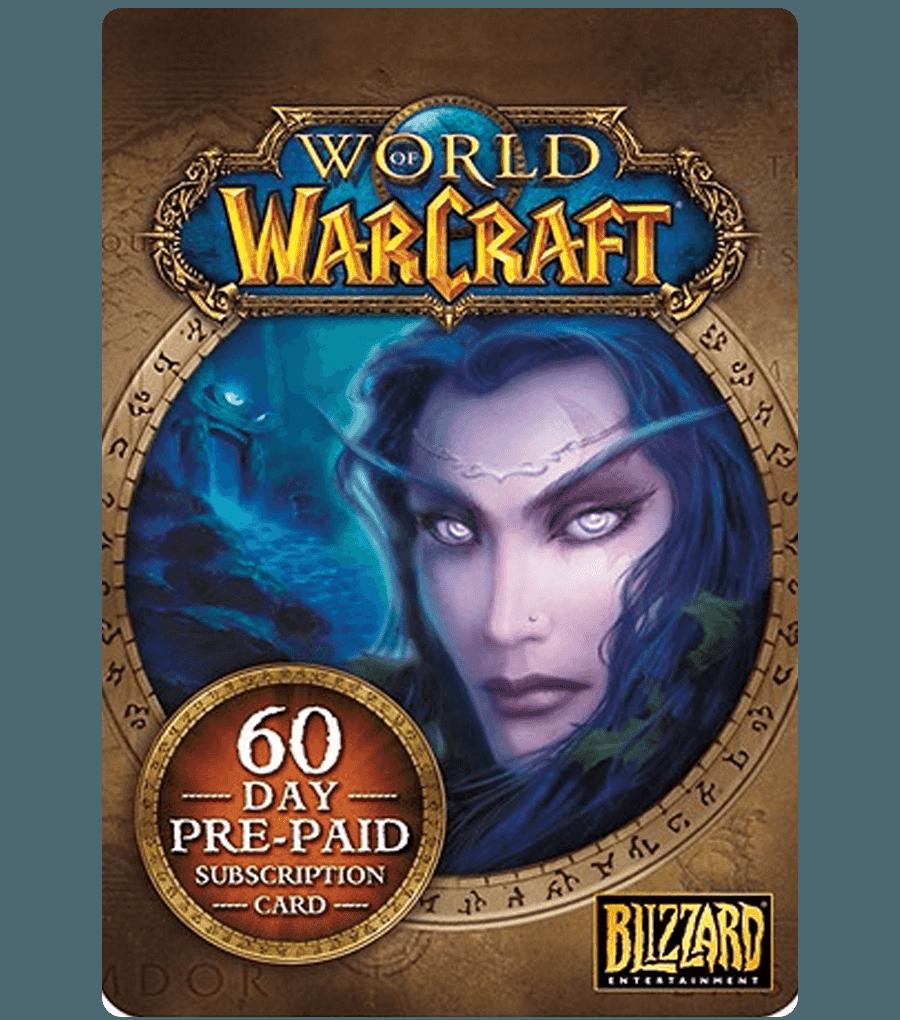 Фотография world of warcraft 60 days time card (us) + wow classic