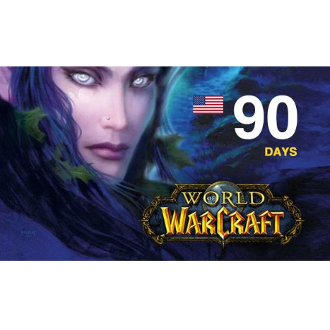 WORLD OF WARCRAFT 90 DAYS TIME CARD (US) + WOW CLASSIC