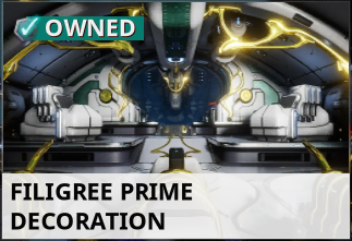 Warframe Twitch Prime Filigree Prime + Power Booster II