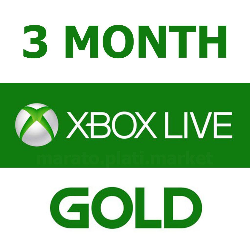 XBOX Live Gold 3 месяца | Все страны + Россия
