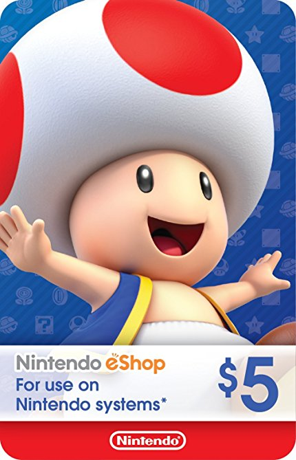 Nintendo eShop Gift Card $5 - Switch / Wii U / 3DS