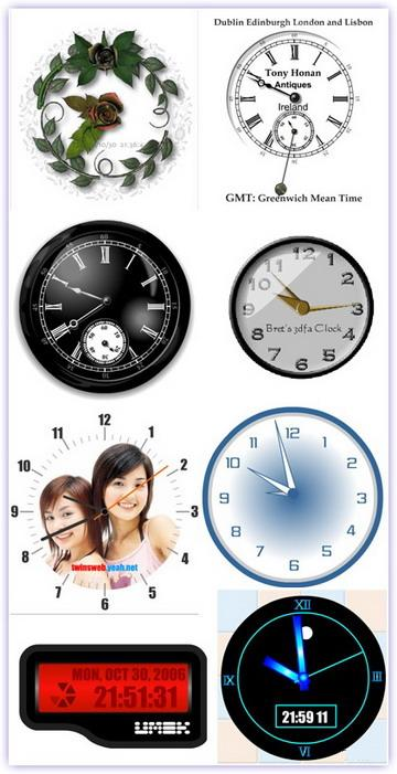 131 piece Flash Clocks for your site (2.5 Mb)