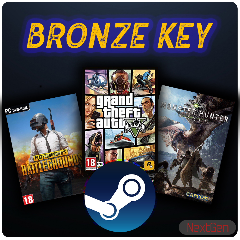 🔥 BRONZE KEY | GTA V, PUBG, MONSTER HUNTER, RUST