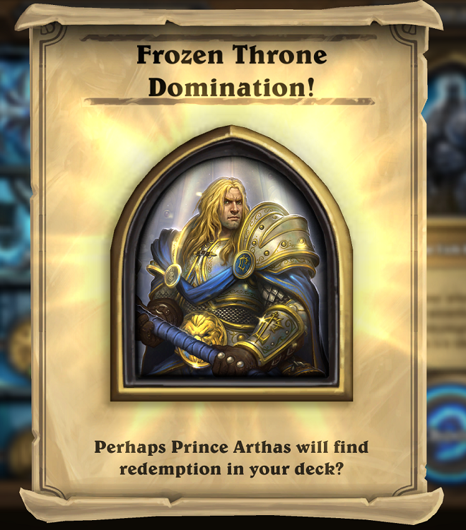 Hearthstone (Portrait of Arthas; Global)+GIFT