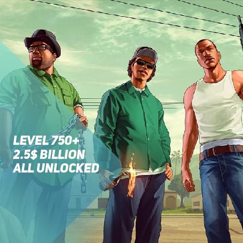 GTA 5 🔰 PayPal • 750+ УР & 2.5$ BILLION • СМЕНА ПОЧТЫ