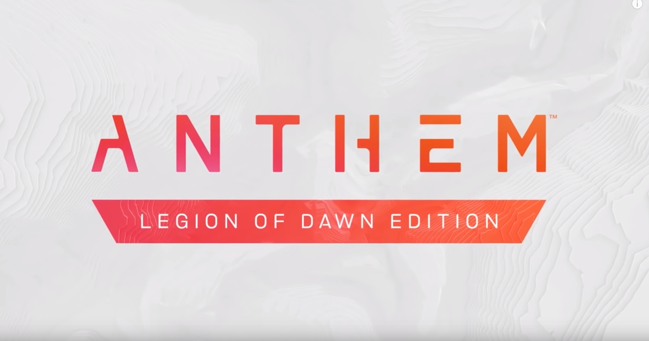 Anthem Legion of Dawn | Origin | Гарантия |